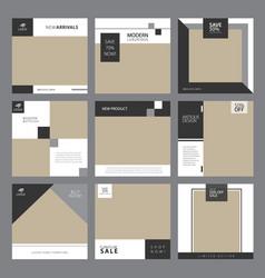 Instagram furniture template vector