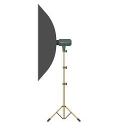 Light umbrella tripod isolated on white vector