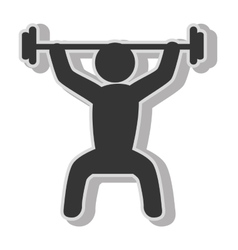 Male weights gym vector