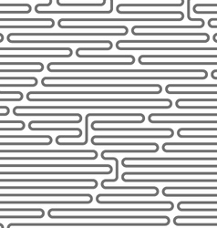 Maze style horizontal pattern - rounded lines vector image