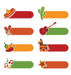 Mexican tabs vector