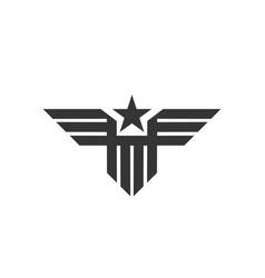 military eagle logo abstract bird - army emblem vector image