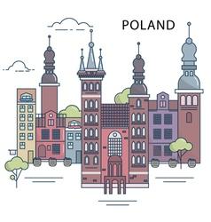 Poland city vector