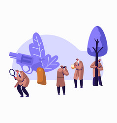 police detectives private investigators at work vector image