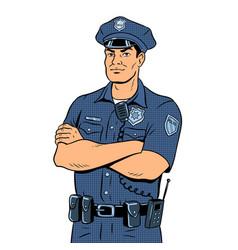 Policeman pop art vector