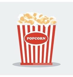 Pop corn in red box vector