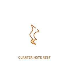 Quarter note rest concept 2 colored icon simple vector