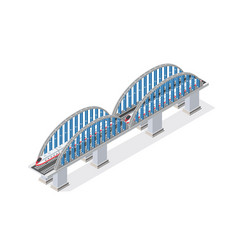 railroad isometric bridge vector image