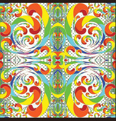 rainbow colors abstract colorful seamless pattern vector image