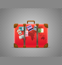 red bag isolated on transparent background vector image