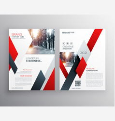 Red business annual report brochure flyer design vector