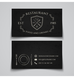 Restaurant business card template vector