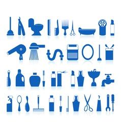 restroom bathroom icons vector image