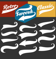 Retro sports swoosh tails set vector