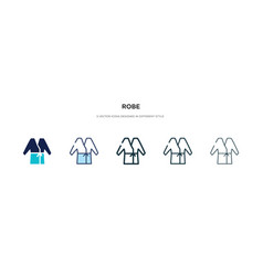 robe icon in different style two colored vector image
