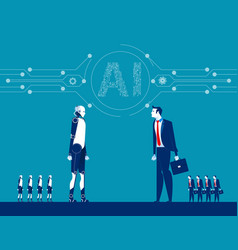 robot and human concept business vector image