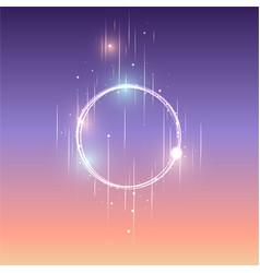 round frame shining circle banner vector image