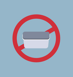 Say no to plastic food container poster pollution vector