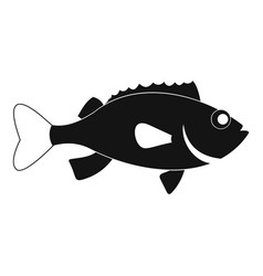 Sea bass fish icon simple style vector