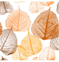 Seamless floral pattern with autumn leaves vector