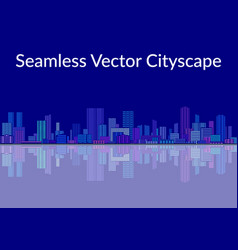 Seamless landscape city vector