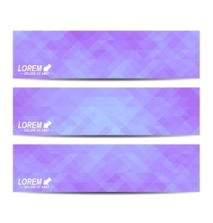 Set of banners Background with purple vector