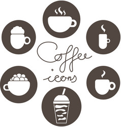 Set of coffee icons logos vector
