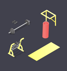 set of different fitness attributes vector image