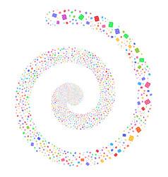 Shekel fireworks spiral vector