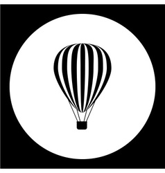 Simple hot air balloon isolated black icon eps10 vector