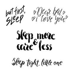 Sleep lettering vector