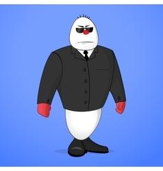 Snowman bodyguard vector image
