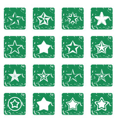 Star icons set grunge vector