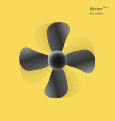 the fan icon ventilator blower propeller symbol vector image