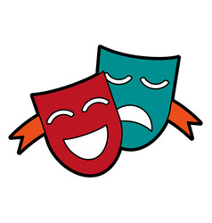 theater masks concept icon image vector image