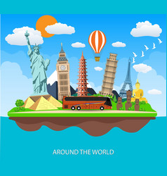 Travel to World vector image