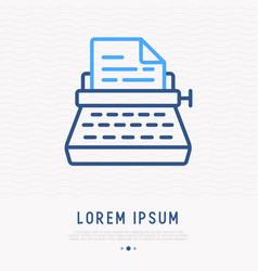typewriter thin line icon vector image