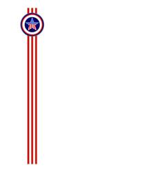 Usa flag frame ribbon template vector