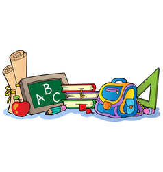 Various school supplies 1 vector