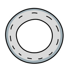 vehicle tire of rubber wheel design vector image