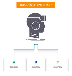 Vr googles headset reality virtual business flow vector