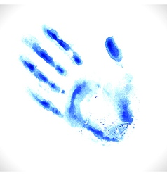 Watercolor hand print vector