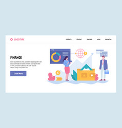 Web site gradient design template business vector