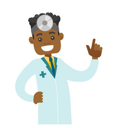 Young african-american otolaryngologist doctor vector
