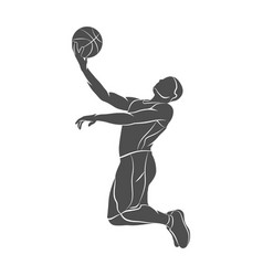 basketball player ball vector image vector image