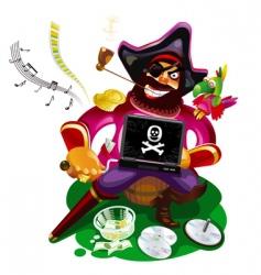 digital pirate vector image