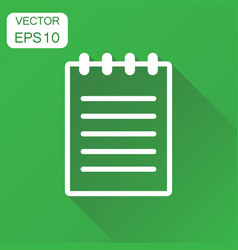 document icon business concept document note vector image