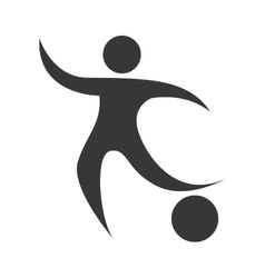 figure athlete silhouette icon vector image