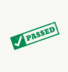 passed stamp checkmark sign and symbol vector image vector image