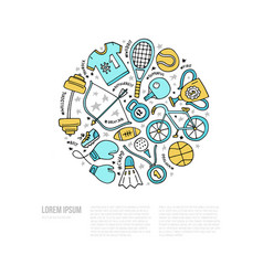 sport concept vector image vector image